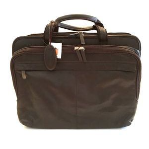 WILSONS LEATHER Double Gusset Briefcase